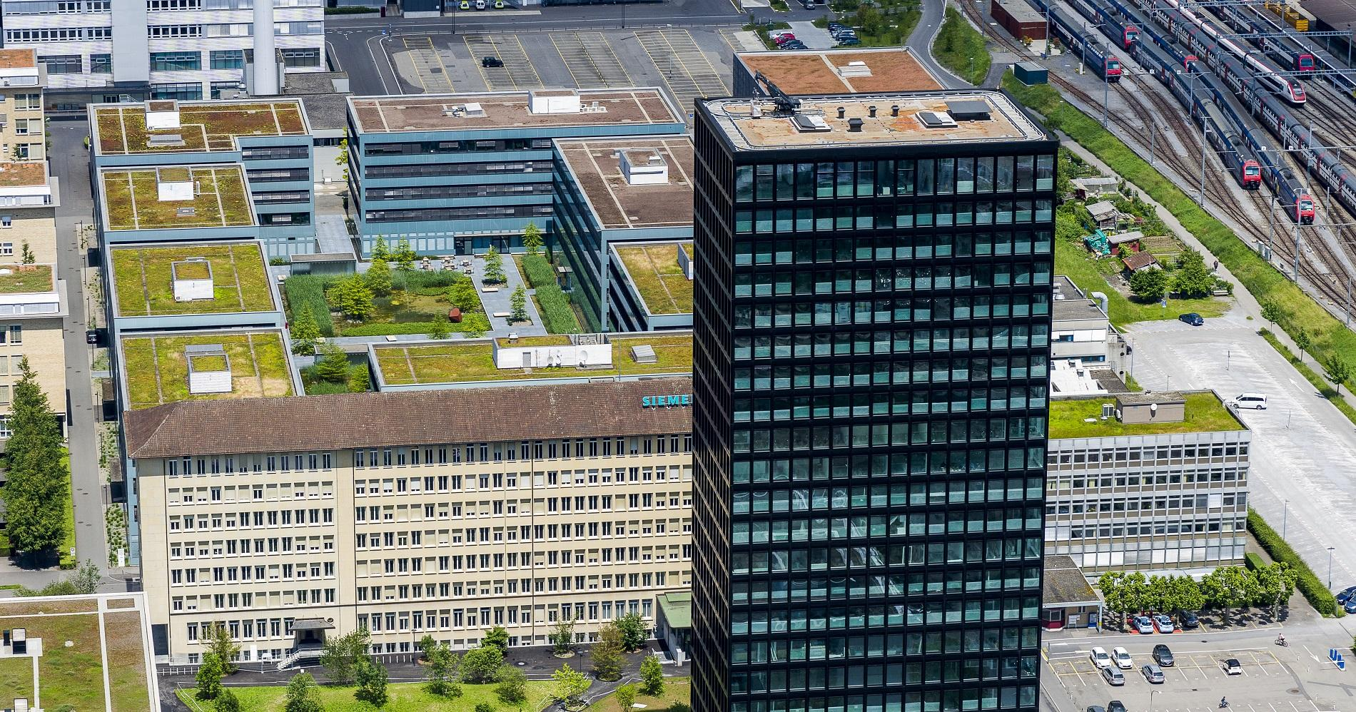 New Siemens campus in Zug in the Greater Zurich Area